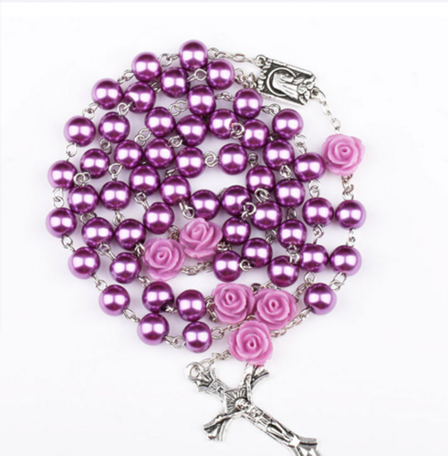 New Rosario de Perlas - Purple